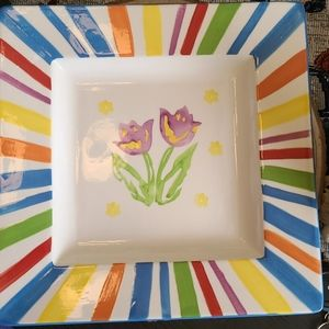***2/$20***Square Serving Plate